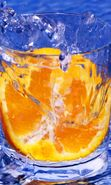 Download free mobile wallpaper 3934: Water, Oranges, Objects for phone or tab. Download images, backgrounds and wallpapers for mobile phone for free.