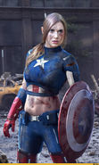 Download free mobile wallpaper 19492: Captain America, Girls, Cinema, People for phone or tab. Download images, backgrounds and wallpapers for mobile phone for free.