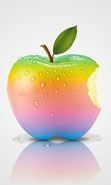 Download free mobile wallpaper 42220: Apple,Apples,Background,Objects for phone or tab. Download images, backgrounds and wallpapers for mobile phone for free.