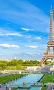 Download free mobile wallpaper 25013: Architecture, Eiffel Tower, Cities, Sky, Paris, Landscape for phone or tab. Download images, backgrounds and wallpapers for mobile phone for free.
