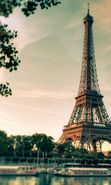 Download free mobile wallpaper 19133: Architecture, Eiffel Tower, Sky, Clouds, Landscape for phone or tab. Download images, backgrounds and wallpapers for mobile phone for free.