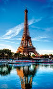 Download free mobile wallpaper 21862: Architecture, Eiffel Tower, Paris, Landscape, Rivers for phone or tab. Download images, backgrounds and wallpapers for mobile phone for free.