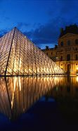 Download free mobile wallpaper 13380: Architecture, Cities, Paris, Landscape, Louvre for phone or tab. Download images, backgrounds and wallpapers for mobile phone for free.