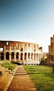 Download free mobile wallpaper 22730: Architecture, Colosseum, Landscape, Sun for phone or tab. Download images, backgrounds and wallpapers for mobile phone for free.