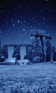 Download free mobile wallpaper 20421: Architecture, Night, Landscape, Stonehenge, Stars for phone or tab. Download images, backgrounds and wallpapers for mobile phone for free.