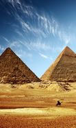 Download free mobile wallpaper 22425: Architecture, Landscape, Pyramids, Desert for phone or tab. Download images, backgrounds and wallpapers for mobile phone for free.