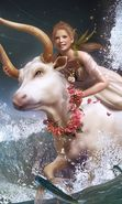 Download free mobile wallpaper 9224: Girls, Fantasy, Art, Zodiac, Cows for phone or tab. Download images, backgrounds and wallpapers for mobile phone for free.