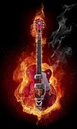 Download free mobile wallpaper 8916: Music, Art, Fire, Instrument, Guitars, Objects for phone or tab. Download images, backgrounds and wallpapers for mobile phone for free.