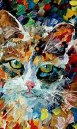 Download free mobile wallpaper 12422: Art, Cats, Drawings, Animals for phone or tab. Download images, backgrounds and wallpapers for mobile phone for free.