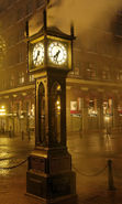 Download free mobile wallpaper 22279: Clock, Cities, Night, Landscape, Streets for phone or tab. Download images, backgrounds and wallpapers for mobile phone for free.