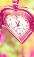 Download free mobile wallpaper 32649: Clock,Objects,Hearts for phone or tab. Download images, backgrounds and wallpapers for mobile phone for free.