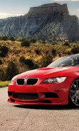 Download free mobile wallpaper 44758: Auto,BMW,Roads,Mountains,Landscape,Transport for phone or tab. Download images, backgrounds and wallpapers for mobile phone for free.