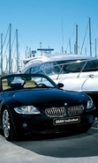 Download free mobile wallpaper 48973: Auto,BMW,Yachts,Transport for phone or tab. Download images, backgrounds and wallpapers for mobile phone for free.