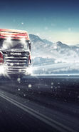 Download free mobile wallpaper 19010: Auto, Roads, Mountains, Trucks, Transport, Winter for phone or tab. Download images, backgrounds and wallpapers for mobile phone for free.