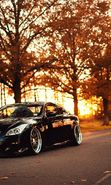 Download free mobile wallpaper 18738: Auto, Roads, Infiniti, Autumn, Transport, Sunset for phone or tab. Download images, backgrounds and wallpapers for mobile phone for free.