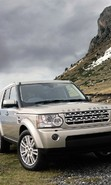 Download free mobile wallpaper 49725: Auto,Mountains,Landscape,Range Rover,Transport for phone or tab. Download images, backgrounds and wallpapers for mobile phone for free.