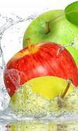 Download free mobile wallpaper 16258: Apples, Food, Fruits, Water for phone or tab. Download images, backgrounds and wallpapers for mobile phone for free.
