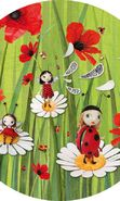 Download free mobile wallpaper 21276: Ladybugs, Cartoon, Plants, Pictures for phone or tab. Download images, backgrounds and wallpapers for mobile phone for free.