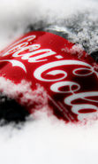 Download free mobile wallpaper 16397: Brands, Coca-cola, Logos, Snow for phone or tab. Download images, backgrounds and wallpapers for mobile phone for free.