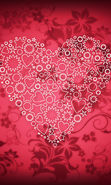 Download free mobile wallpaper 19018: Valentine's day, Background, Love, Holidays, Hearts for phone or tab. Download images, backgrounds and wallpapers for mobile phone for free.
