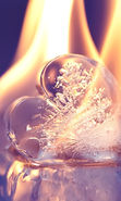 Download free mobile wallpaper 16126: Valentine's day, ice, Love, Objects, Fire, Hearts for phone or tab. Download images, backgrounds and wallpapers for mobile phone for free.