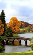 Download free mobile wallpaper 20723: Trees, Bridges, Autumn, Landscape, Rivers for phone or tab. Download images, backgrounds and wallpapers for mobile phone for free.