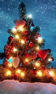 Download free mobile wallpaper 44805: Trees,New Year,Holidays,Plants for phone or tab. Download images, backgrounds and wallpapers for mobile phone for free.