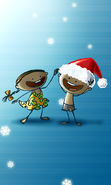 Download free mobile wallpaper 10738: Humor, Holidays, Children, New Year, Christmas, Xmas, Drawings for phone or tab. Download images, backgrounds and wallpapers for mobile phone for free.