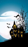 Download free mobile wallpaper 21901: Houses, Halloween, Holidays, Pictures for phone or tab. Download images, backgrounds and wallpapers for mobile phone for free.