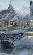 Download free mobile wallpaper 13588: Houses, New Year, Landscape, Christmas, Xmas, Snow, Winter for phone or tab. Download images, backgrounds and wallpapers for mobile phone for free.