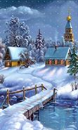 Download free mobile wallpaper 22711: Houses, Landscape, Rivers, Pictures, Snow, Winter for phone or tab. Download images, backgrounds and wallpapers for mobile phone for free.