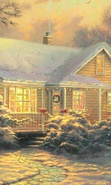 Download free mobile wallpaper 36307: Houses,Holidays,Pictures,Christmas, Xmas for phone or tab. Download images, backgrounds and wallpapers for mobile phone for free.