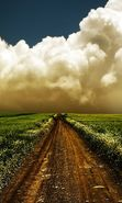 Download free mobile wallpaper 20748: Roads, Sky, Clouds, Landscape, Fields for phone or tab. Download images, backgrounds and wallpapers for mobile phone for free.