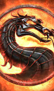 Download free mobile wallpaper 16515: Dragons, Games, Logos, Mortal Kombat, Fire for phone or tab. Download images, backgrounds and wallpapers for mobile phone for free.