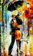 Download free mobile wallpaper 15127: Friendship, Paintings, Love, People, Autumn, Pictures for phone or tab. Download images, backgrounds and wallpapers for mobile phone for free.