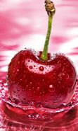 Download free mobile wallpaper 25511: Food, Fruits, Drops, Cherry, Water for phone or tab. Download images, backgrounds and wallpapers for mobile phone for free.