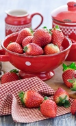 Download free mobile wallpaper 33114: Food,Fruits,Strawberry for phone or tab. Download images, backgrounds and wallpapers for mobile phone for free.