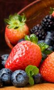 Download free mobile wallpaper 28179: Food, Fruits, Strawberry, Blackberry for phone or tab. Download images, backgrounds and wallpapers for mobile phone for free.