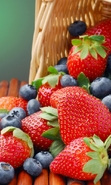 Download free mobile wallpaper 41962: Food,Berries,Strawberry,Plants for phone or tab. Download images, backgrounds and wallpapers for mobile phone for free.