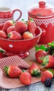 Download free mobile wallpaper 49254: Food,Strawberry for phone or tab. Download images, backgrounds and wallpapers for mobile phone for free.
