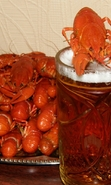 Download free mobile wallpaper 41543: Food,Beer,Crayfish for phone or tab. Download images, backgrounds and wallpapers for mobile phone for free.