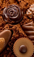 Download free mobile wallpaper 42695: Food,Chocolate for phone or tab. Download images, backgrounds and wallpapers for mobile phone for free.