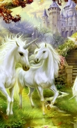 Download free mobile wallpaper 43846: Unicorns,Pictures,Animals for phone or tab. Download images, backgrounds and wallpapers for mobile phone for free.