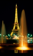 Download free mobile wallpaper 37113: Eiffel Tower,Night,Landscape for phone or tab. Download images, backgrounds and wallpapers for mobile phone for free.