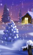 Download free mobile wallpaper 10851: Landscape, Winter, New Year, Snow, Fir-trees, Christmas, Xmas, Drawings for phone or tab. Download images, backgrounds and wallpapers for mobile phone for free.