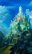 Download free mobile wallpaper 2437: Cities, Fantasy, Castles, Drawings for phone or tab. Download images, backgrounds and wallpapers for mobile phone for free.