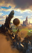 Download free mobile wallpaper 29689: Fantasy,Mountains,Landscape,Balloons for phone or tab. Download images, backgrounds and wallpapers for mobile phone for free.