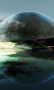 Download free mobile wallpaper 34085: Fantasy,Landscape,Planets for phone or tab. Download images, backgrounds and wallpapers for mobile phone for free.