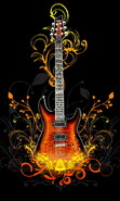 Download free mobile wallpaper 47414: Background,Guitars,Music,Objects for phone or tab. Download images, backgrounds and wallpapers for mobile phone for free.