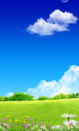 Download free mobile wallpaper 12954: Background, Sky, Clouds, Landscape, Grass for phone or tab. Download images, backgrounds and wallpapers for mobile phone for free.